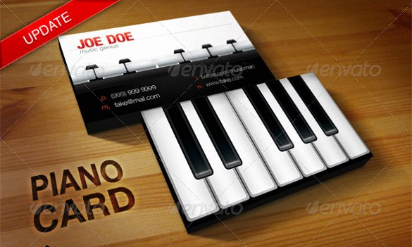 Music Business Cards Template Beautiful Business Cards for Teachers 51 Free Psd format Download