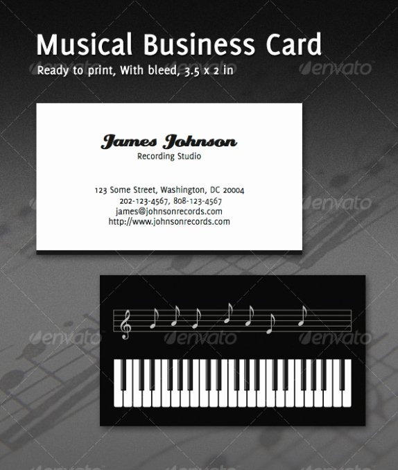 Music Business Cards Template Beautiful Cardview – Business Card & Visit Card Design