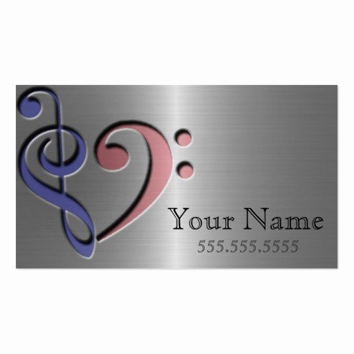 Music Business Cards Template Beautiful Music Love Business Card Template