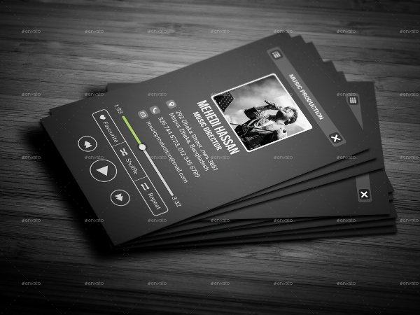 Music Business Cards Template Best Of 26 Music Business Card Templates Psd Ai Word