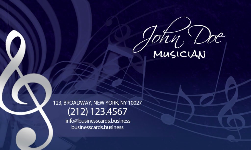 Music Business Cards Template Best Of Free Music Business Card Template Business Cards Templates