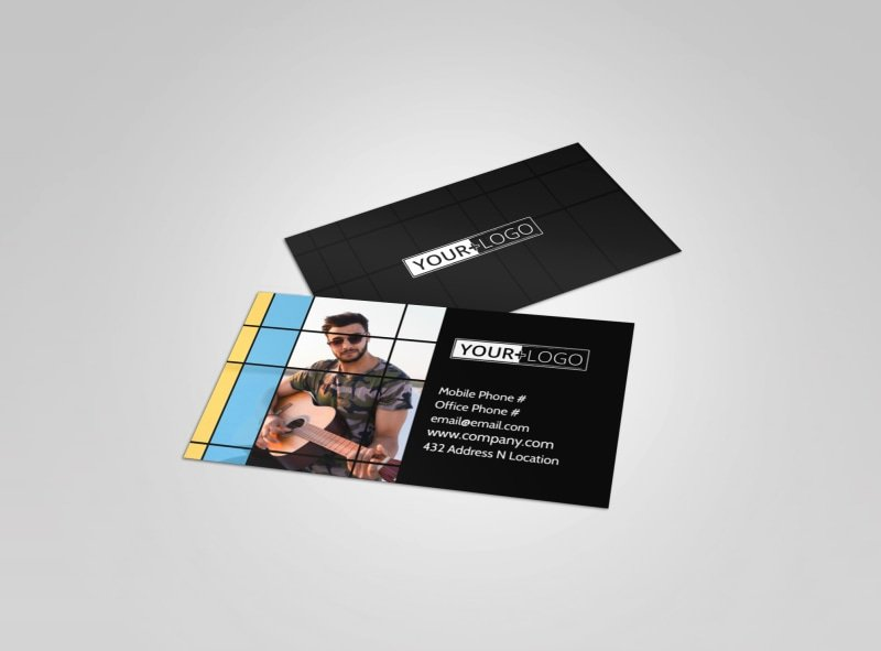 Music Business Cards Template Fresh Music & Arts Templates