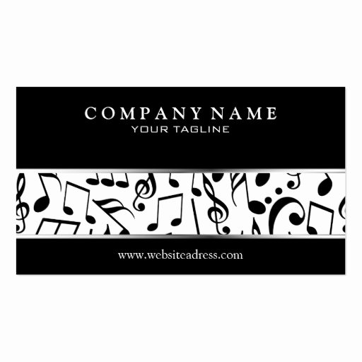 Music Business Cards Template Fresh Music Business Card Template