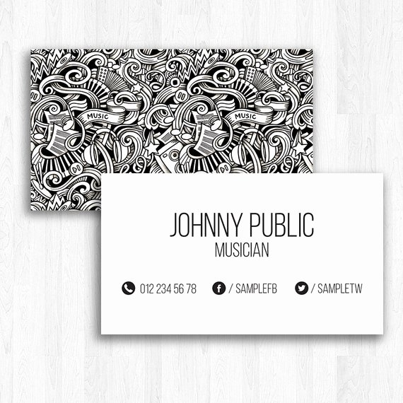 Music Business Cards Template Fresh Music Business Card Template Visiting Card for Musician Psd