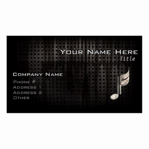 Music Business Cards Template Fresh Music Business Card Templates Page2
