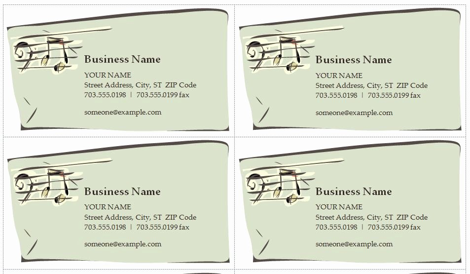 Music Business Cards Template Fresh Music Business Cards