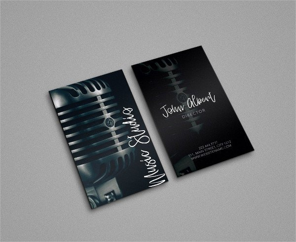 Music Business Cards Template Inspirational 29 Music Business Card Templates Free & Premium Download