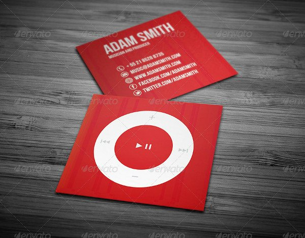 Music Business Cards Template Lovely 29 Music Business Card Templates Free & Premium Download