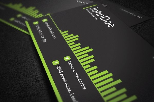 Music Business Cards Template Luxury 26 Music Business Card Templates Psd Ai Word
