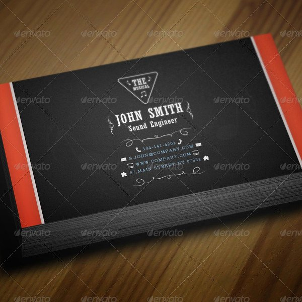 Music Business Cards Template New 29 Music Business Card Templates Free & Premium Download