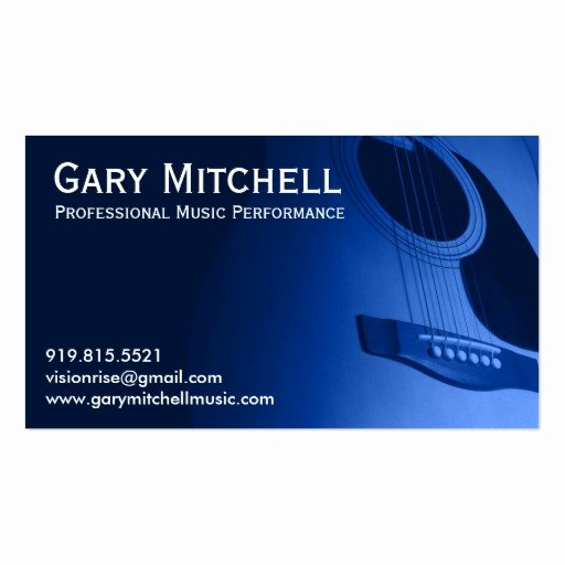 Music Business Cards Template New Gary Mitchell Music Double Sided Standard Business Cards