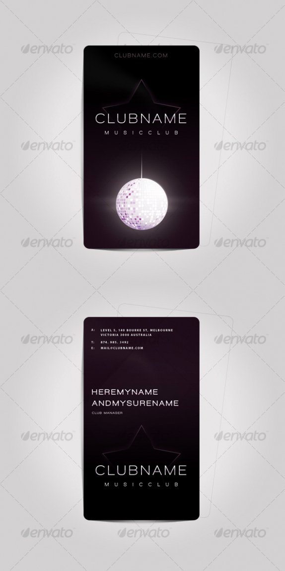 Music Business Cards Template Unique Cardview – Business Card & Visit Card Design