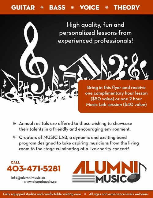 Music Lesson Flyer Template Awesome Music Lessons Flyer Planet Flyers