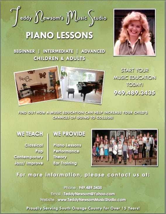 Music Lesson Flyer Template Awesome Piano Lesson Flyer Yelp