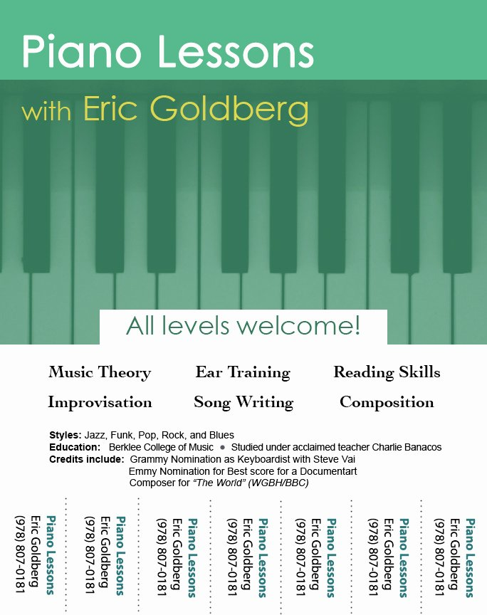 Music Lesson Flyer Template Awesome too Many Designs Green Piano Lesson Flyers