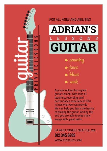 Music Lesson Flyer Template Beautiful Guitar Musical Flyer Design Yourweek E2f291eca25e