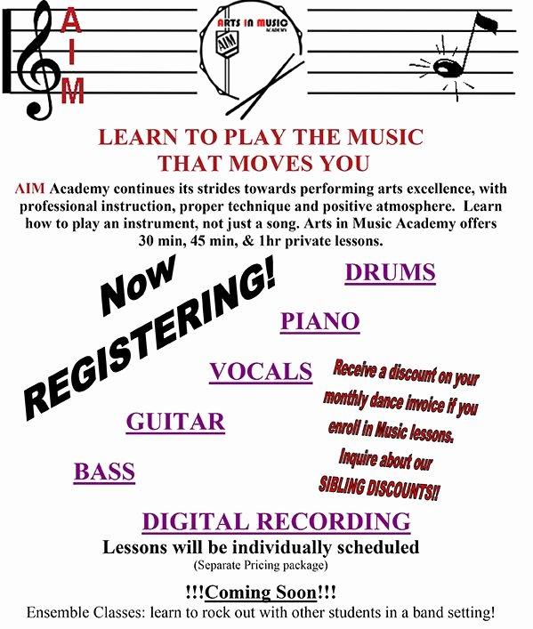 Music Lesson Flyer Template Beautiful Matawan Nj S Premiere Educational Dance and Music Studio