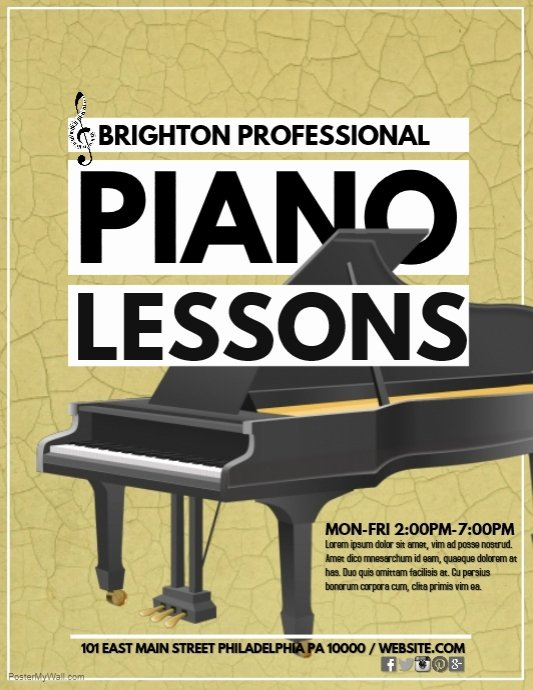 Music Lesson Flyer Template Beautiful Piano Lessons Template