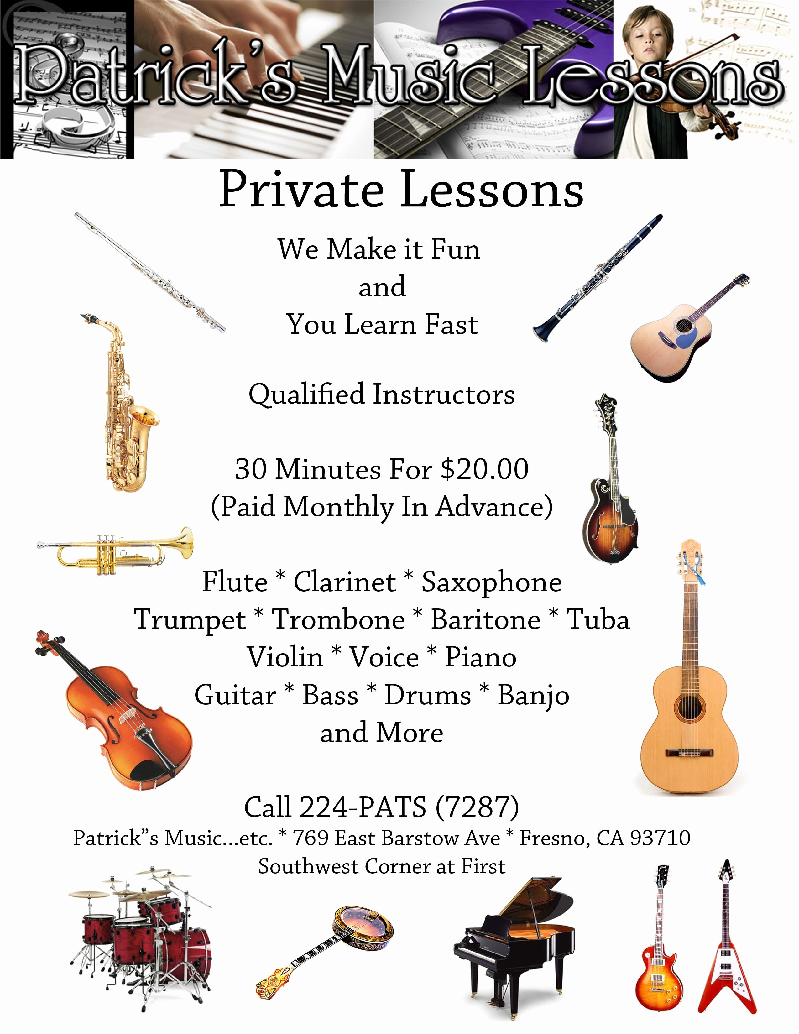 Music Lesson Flyer Template Beautiful St Lesson Flyer Kid Activities