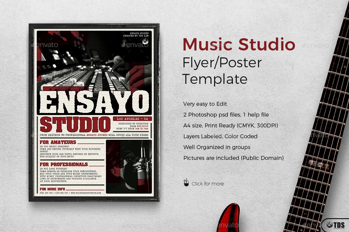 Music Lesson Flyer Template Best Of Music Studio Flyer Template by Lou with Free Flyer