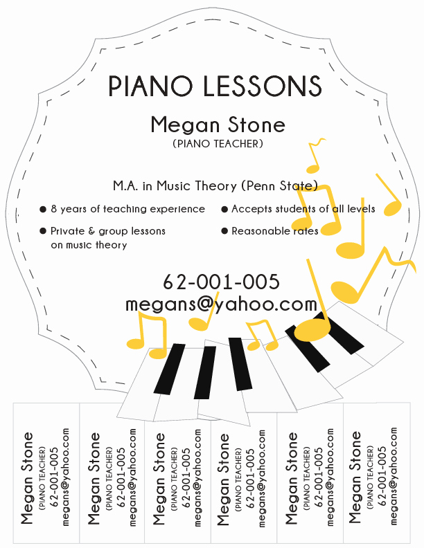 Music Lesson Flyer Template Best Of Sample Piano Lesson Flyer Wikihow