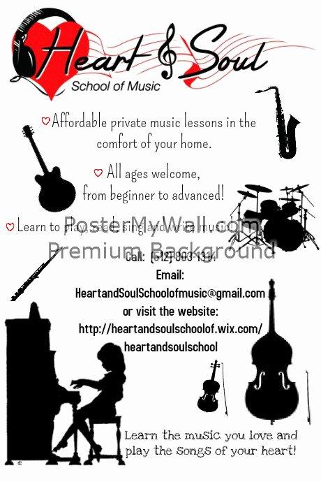 Music Lesson Flyer Template Fresh Music Lesson Recruitment Flyer Template