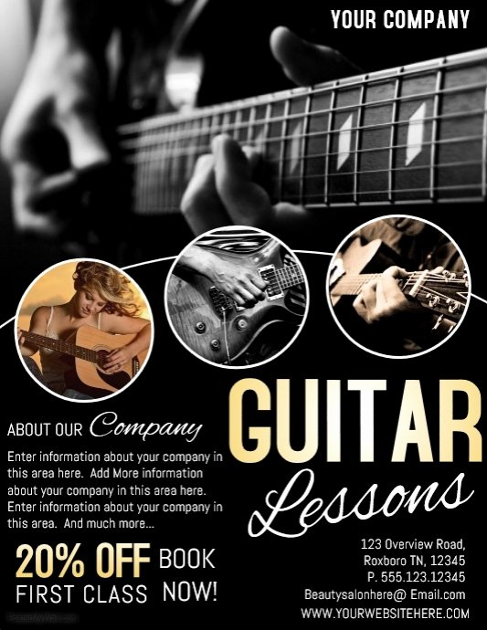 Music Lesson Flyer Template Inspirational Music Template