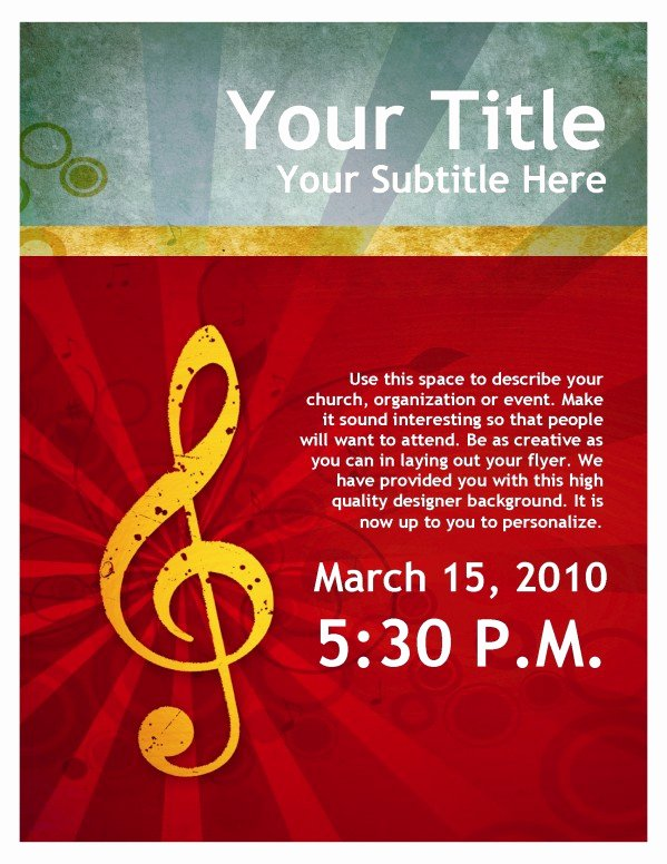 Music Lesson Flyer Template Lovely Church Flyers Christian Flyers Flyer Templates