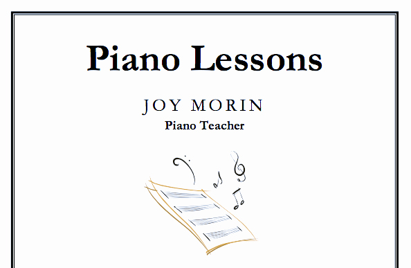 Music Lesson Flyer Template Lovely Just Added Piano Lessons Flyer Template Color In My Piano