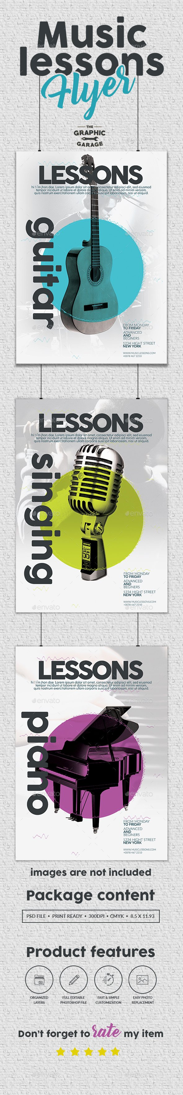 Music Lesson Flyer Template Luxury Music Lessons Flyer by Graphic Garage