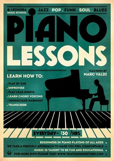Music Lesson Flyer Template Unique Piano Lessons Flyer Template