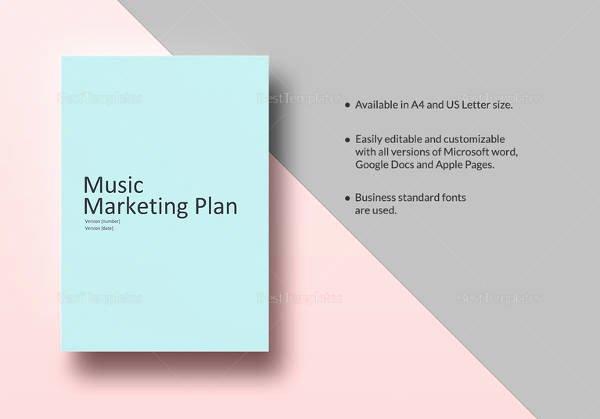 Music Marketing Plan Template Beautiful 14 Music Marketing Plan Templates Doc Pdf