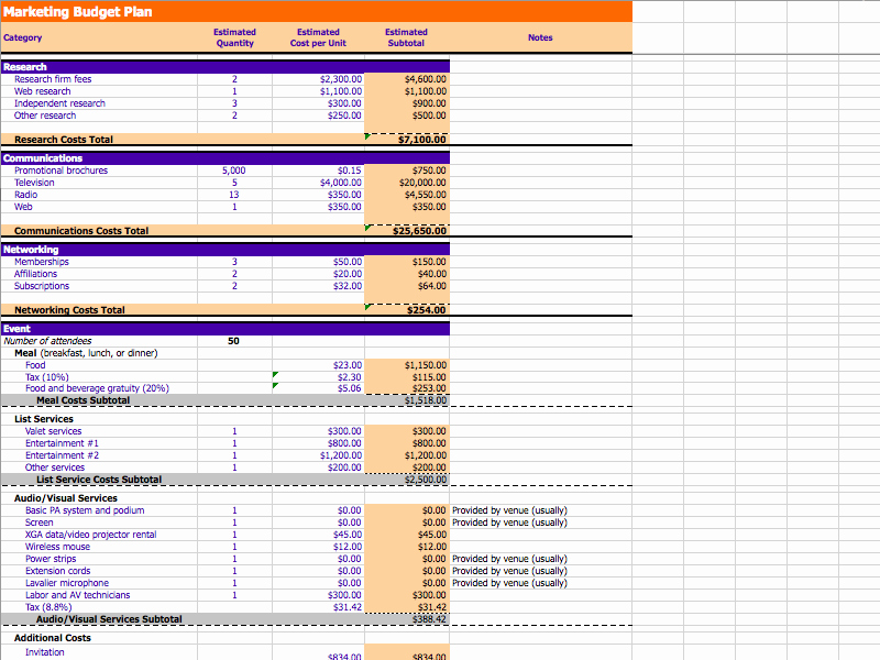 Music Marketing Plan Template Unique 7 Free Marketing Bud Templates Marketing