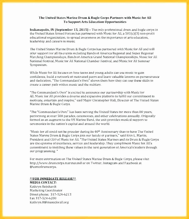 Music Press Release Template Elegant Band Press Release Template Media Press Release Template