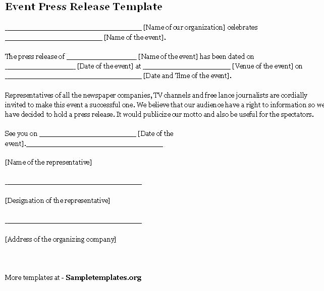 Music Press Release Template Fresh Media Release Template Word event Press form social News