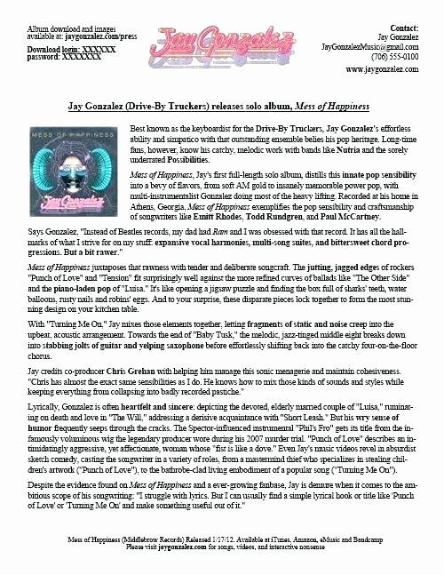 Music Press Release Template Luxury Press Release Template Free Word Document Downloads