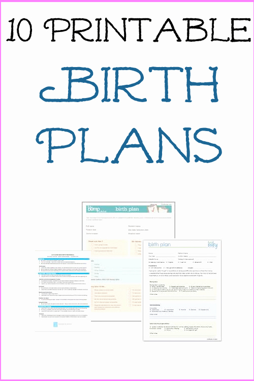 Natural Birth Plan Template New Birth Plan Templates