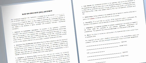 Nda Agreement Template Word Awesome Simple Nda Template for Microsoft Word