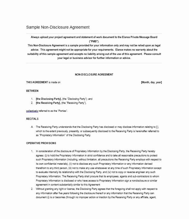 Nda Agreement Template Word Best Of 40 Non Disclosure Agreement Templates Samples & forms