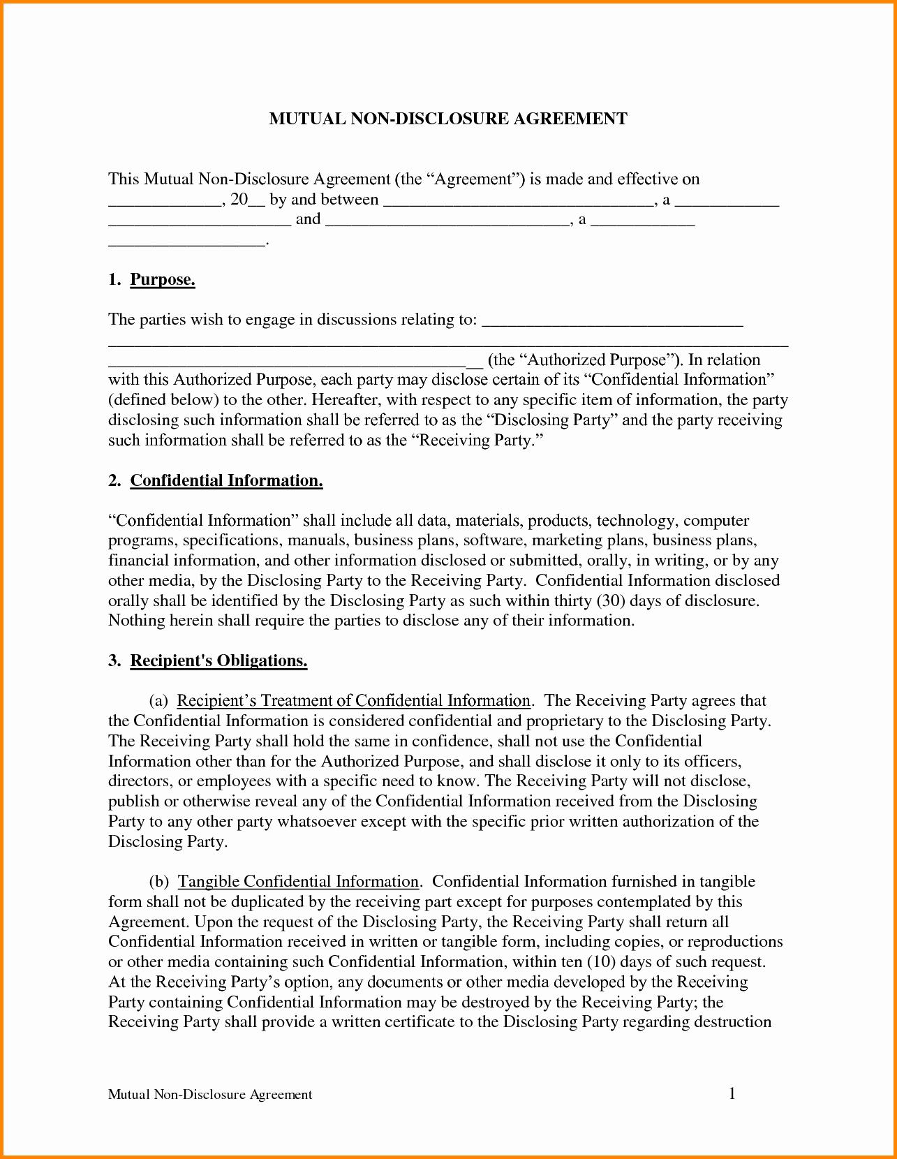 Nda Agreement Template Word Best Of Nda Template Word Portablegasgrillweber