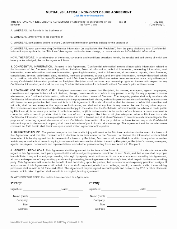Nda Agreement Template Word Elegant Non Disclosure Agreement Template