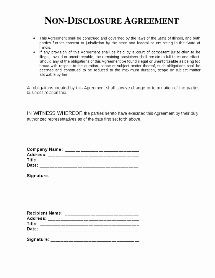 Nda Agreement Template Word Lovely top 5 Free Non Disclosure Agreement Templates Word