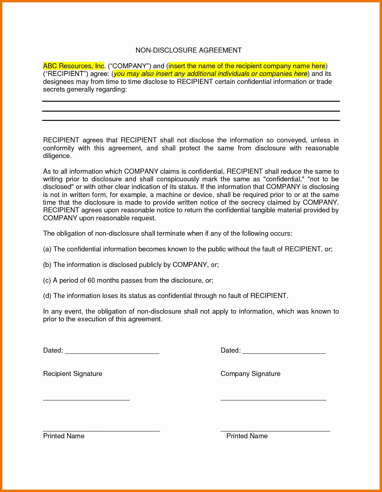 Nda Agreement Template Word New Nda Template Word Portablegasgrillweber