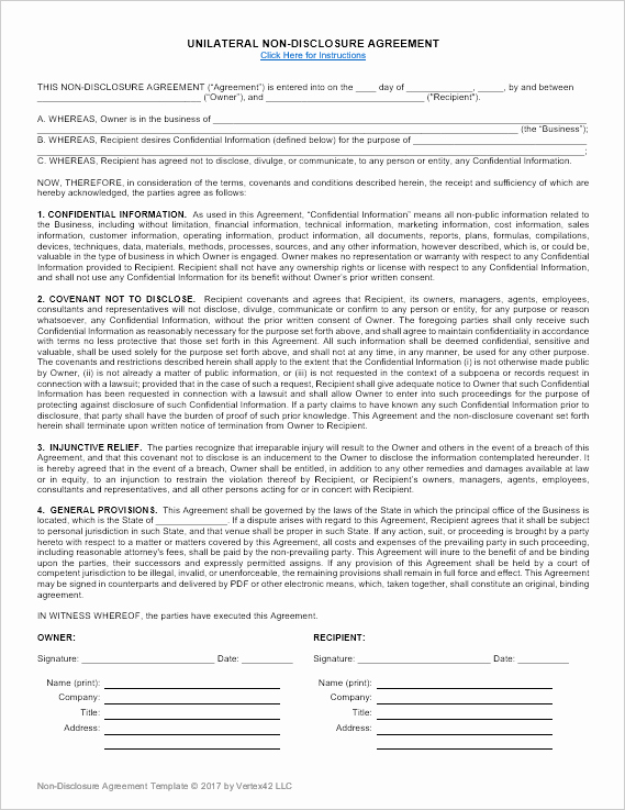 Nda Agreement Template Word New Non Disclosure Agreement Template