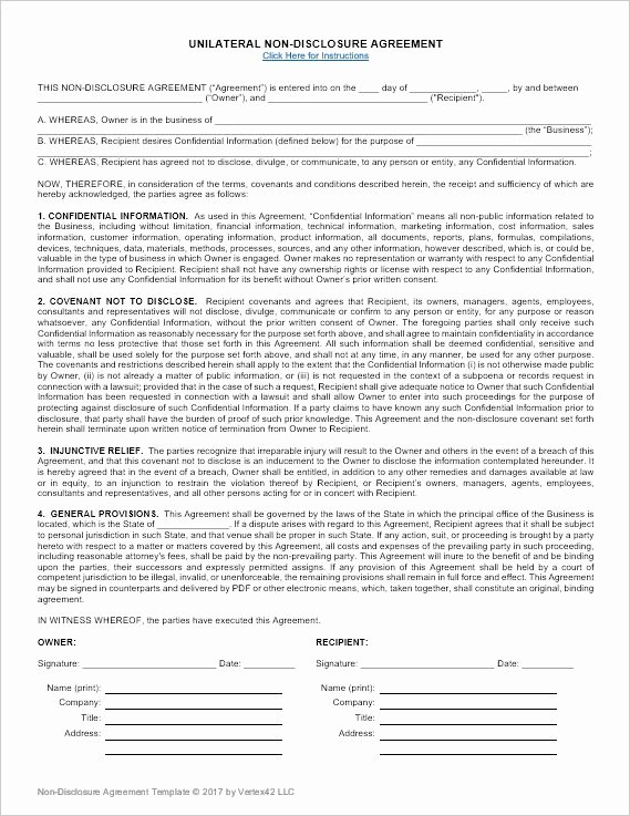 Nda Agreement Template Word Unique Best 25 Non Disclosure Agreement Ideas On Pinterest