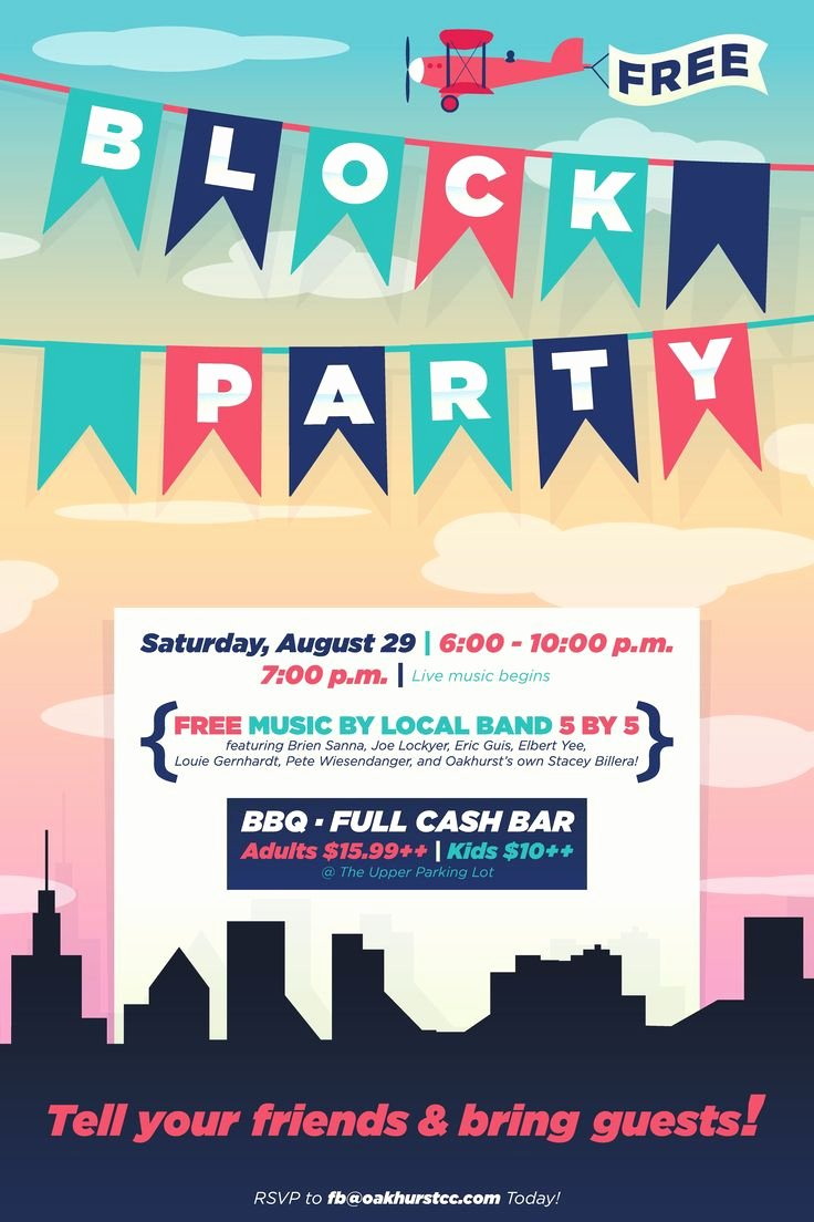 Neighborhood Block Party Flyer Template Awesome Best 25 Block Party Invites Ideas On Pinterest