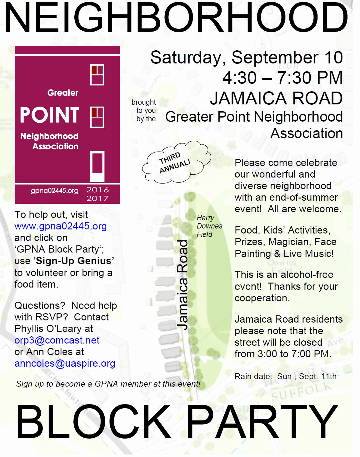 Neighborhood Block Party Flyer Template Awesome Greater Point Neighborhood association