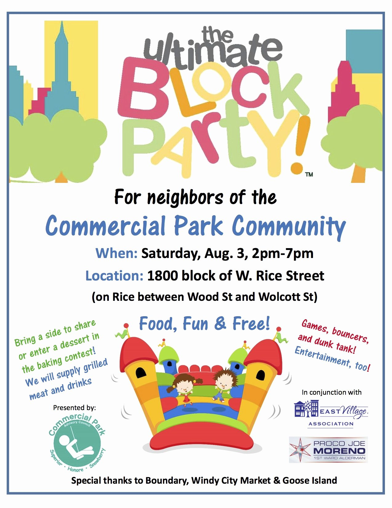 Neighborhood Block Party Flyer Template Awesome Mercial Park Munity Block Party is Back – Saturday