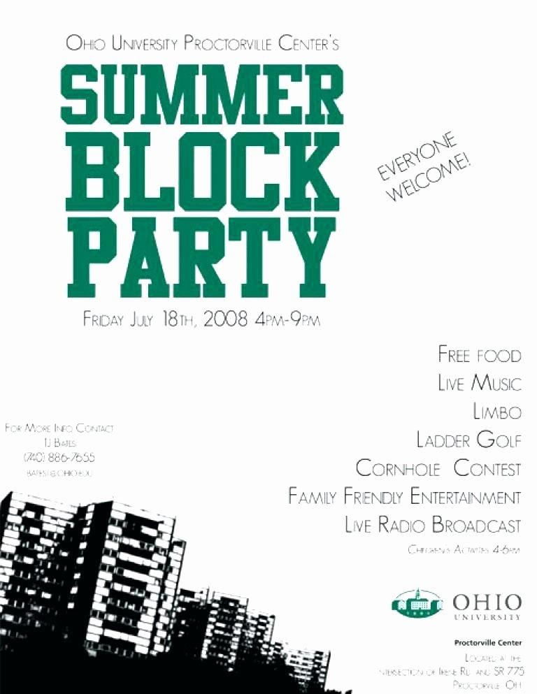 Neighborhood Block Party Flyer Template Awesome Neighborhood Block Party Flyer Template Amazing Block