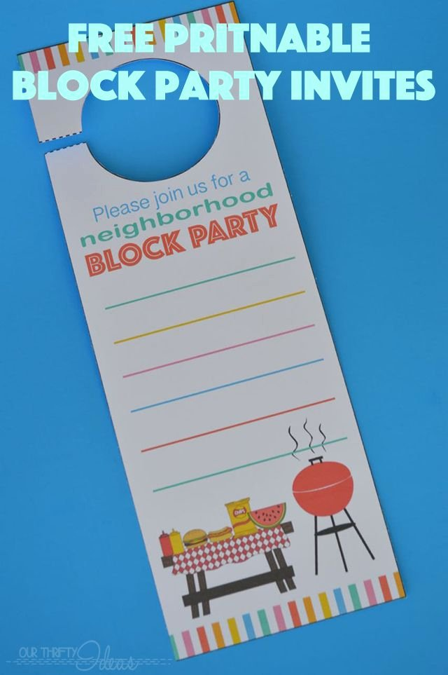 Neighborhood Block Party Flyer Template Awesome Neighborhood Block Party Invitation Free Printable Our